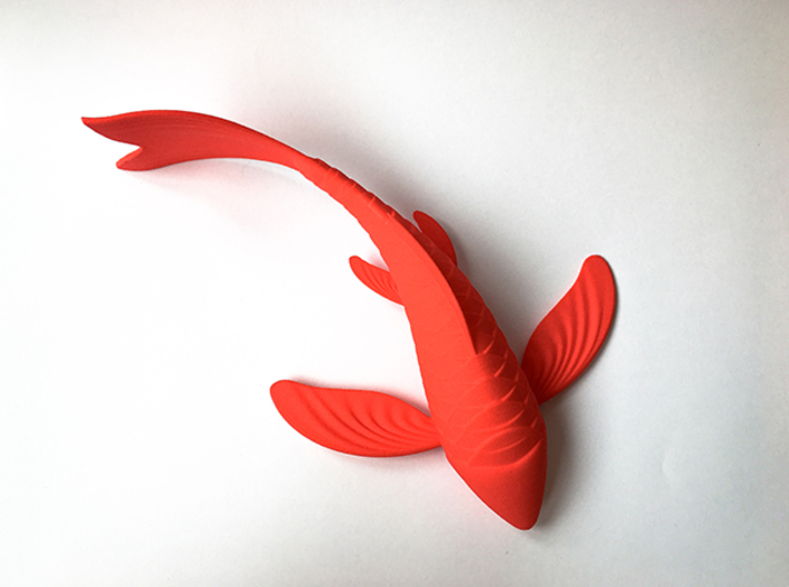 Koi sculpture 3d printed