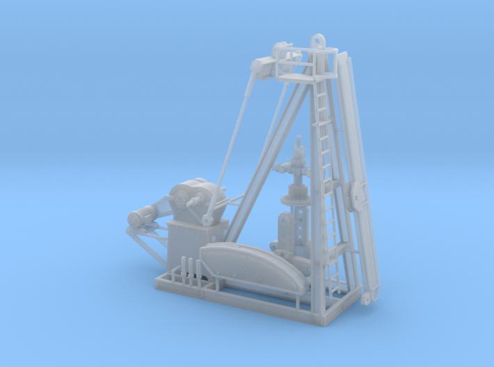 1/64th Large oil well Pump Jack wellhead 3d printed