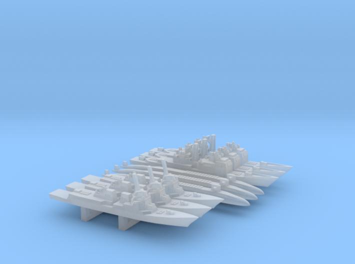 US Modern Warship custom Pack 1, 1/6000 3d printed