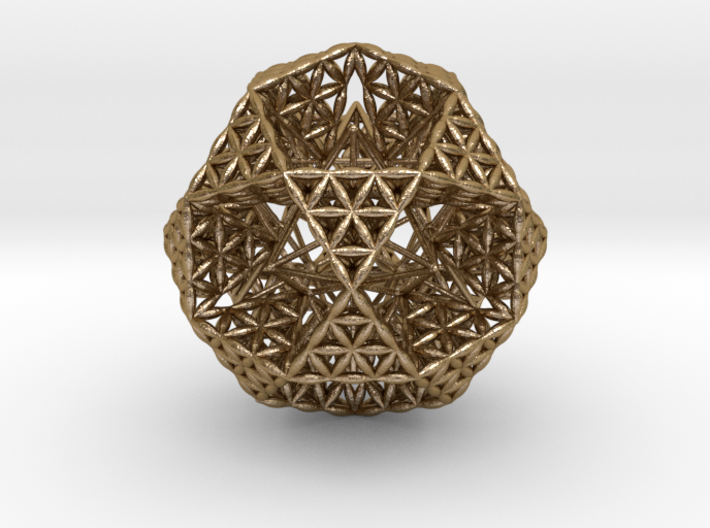 FOL IcosiDodecahedron w/ Stellated Dodecahedron 3d printed