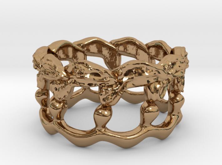 Kelp Ring - Nature Jewelry 3d printed