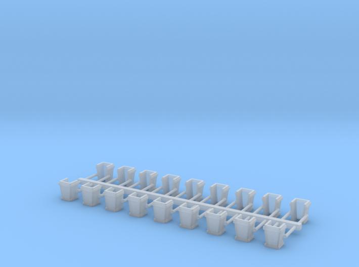 O Scale USMRR Stake Pockets 3d printed