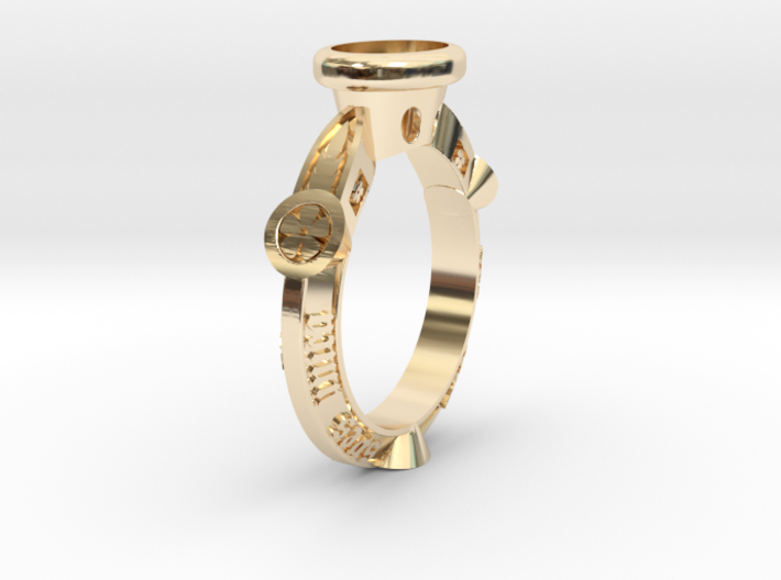 Ring Floris 3d printed