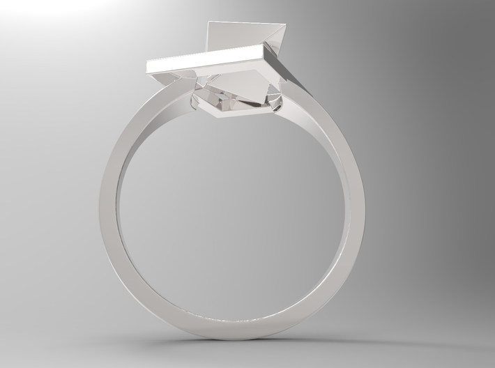Female Ring-Crystal S B 3d printed