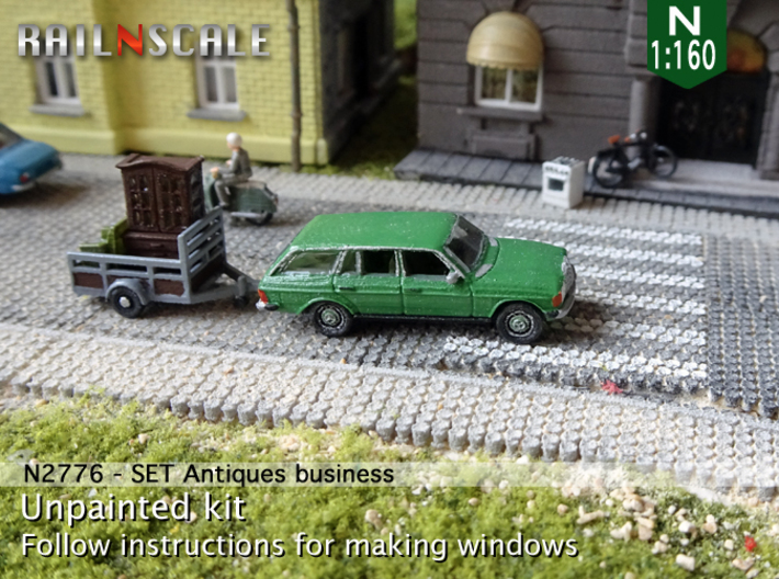 Antiques business (N 1:160) 3d printed