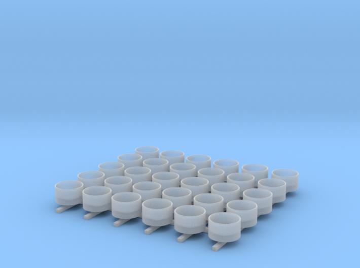 1/350 Oerlikon Tubs (Stepped Bottom) x30 3d printed 1/350 Oerlikon Tubs (Stepped Bottom) x30