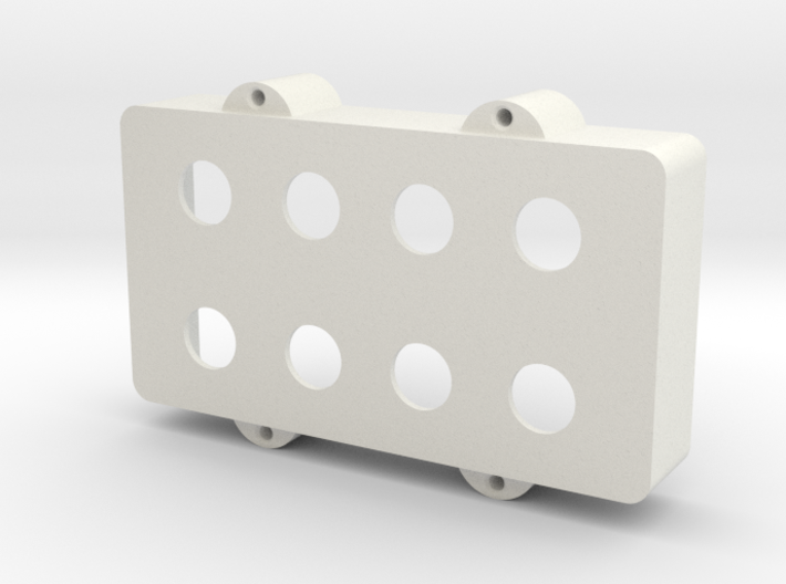 Thick Modified MusicMan Bass Humbucker Cover 3d printed
