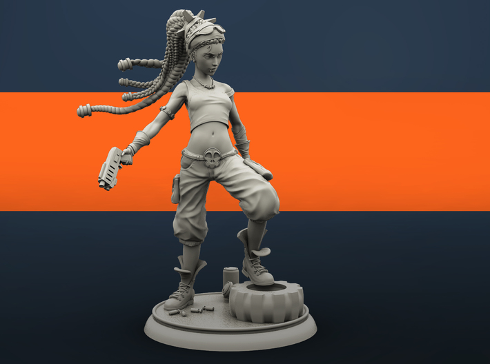 Molly the Punk 3d printed Render_01