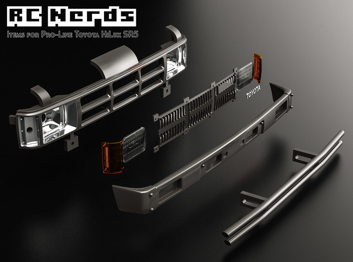 RCN005 Front main bumper for Pro-Line Toyota SR5  3d printed