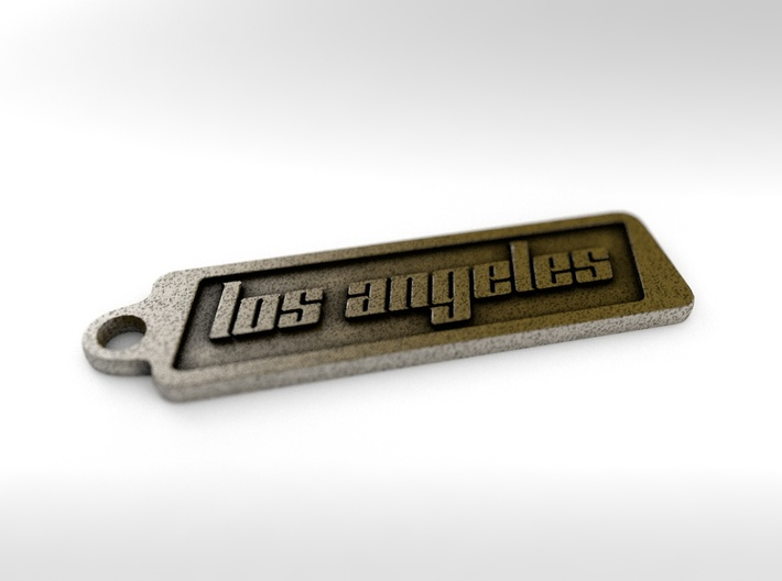 Los Angeles, California Keychain 3d printed