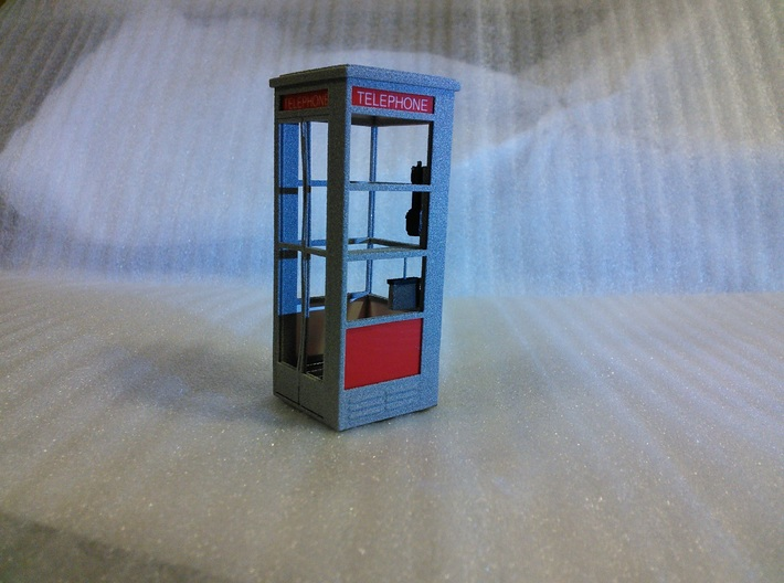 Telephone Booth, 1/32 Scale 3d printed Transparent film was not used as glass when constructing this model which was printed in Metallic Plastic.
