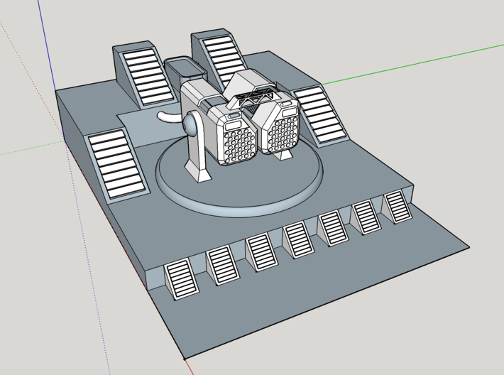 Rocket Launcher With Base V1 3d printed sketchup view