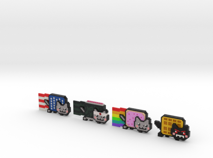 Nyan cat figurines 3d printed