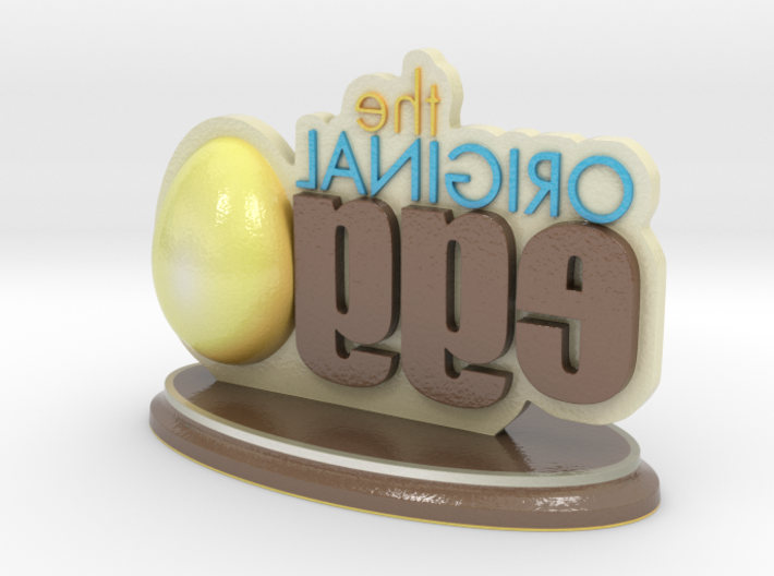 The Original Egg Logo 3d printed