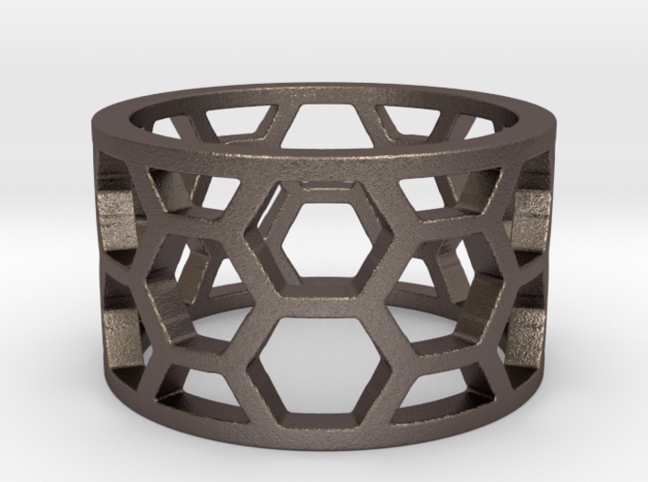 Hex Ring Inverted Ring 3d printed