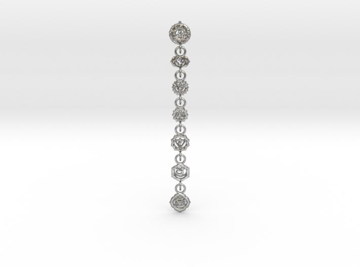 7 Chackras Buddist Pendant (Interlocking, 7,5 cm) 3d printed