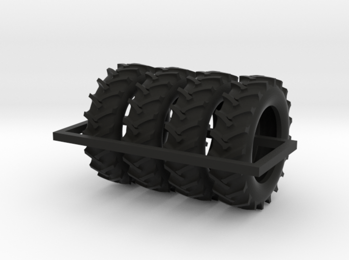 1/64 scale 520/85R46 R1 tractor tires X 4 3d printed
