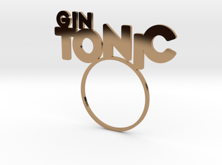 GinTonic [Cocktail LetteRing© Serie] 3d printed