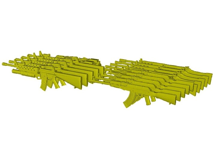 1/30 scale VietNam War rifles collection pack x 20 3d printed