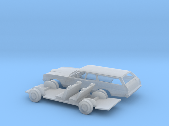 1/87 1971 Ford LTD Station Wagon Kit 3d printed