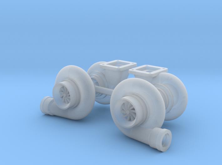 "Mirrored 1/18 Turbo pair 64mm (2.5"") 3d printed"