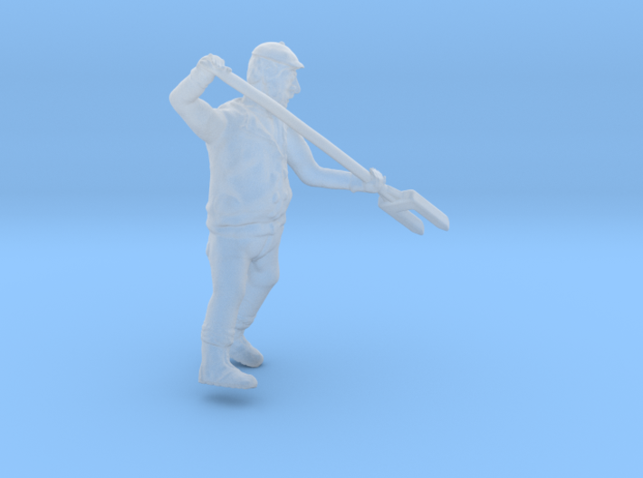 HO Scale Ice Dock Worker with ICE FORK Figure 3d printed