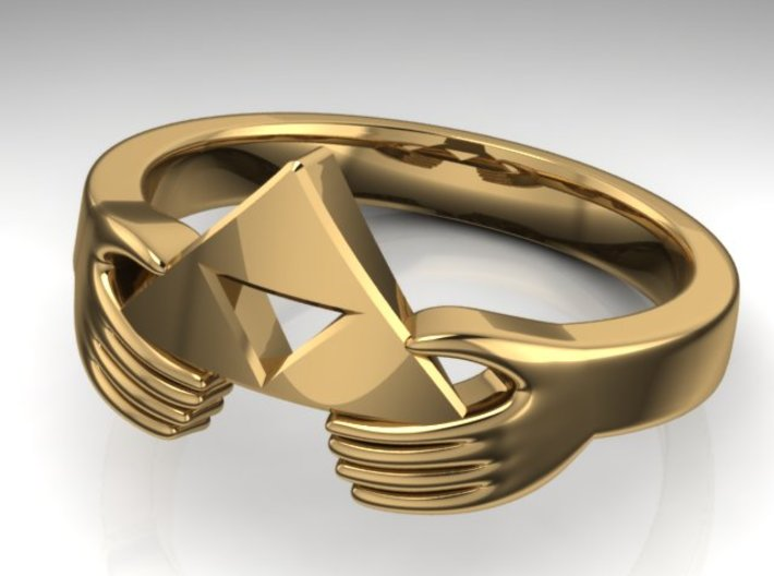 Triforce Zelda Ring Size German 18 3d printed Zelda Triforce German size 18