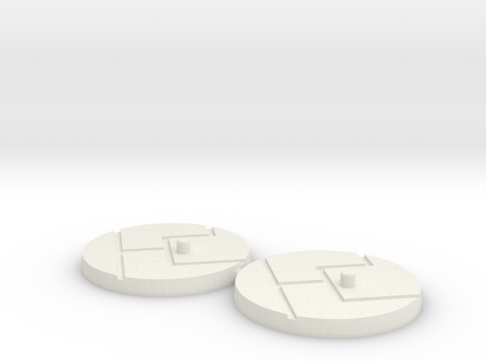 """1"""" Titan Scale Bases (2) 3d printed"""