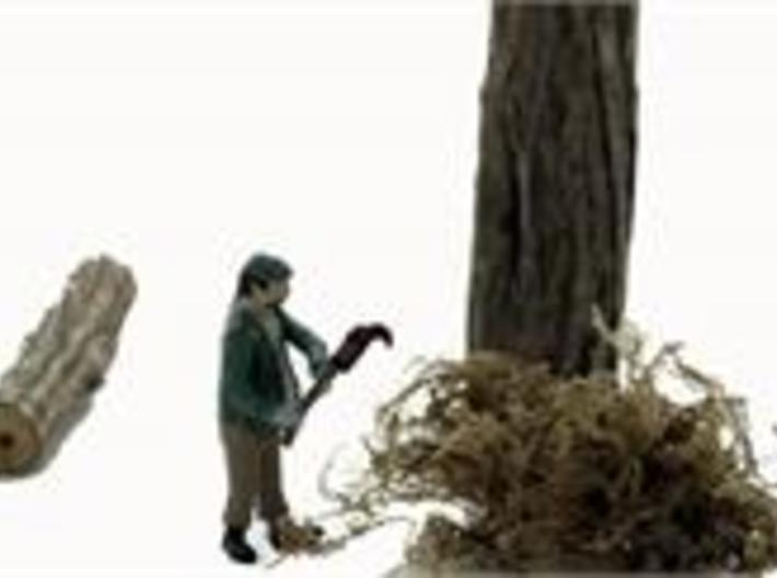 O Logging SWAMPER w Brush Cutter Figure 3d printed Clearing underbrush with his brush cutter