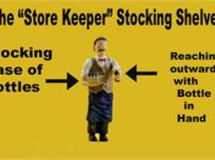 O ShopKeeper stocking shelving Figure 3d printed He is stocking the store shelving