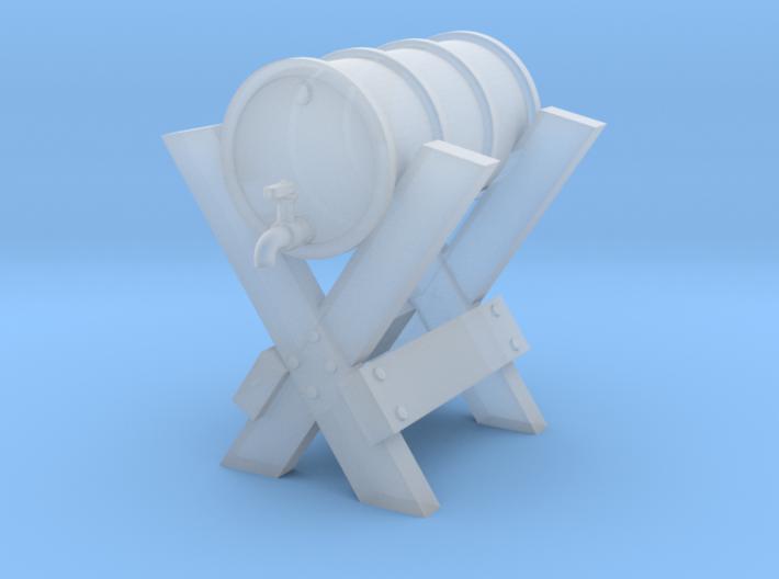 HO Oil Drum on CrossBuck Detail 3d printed