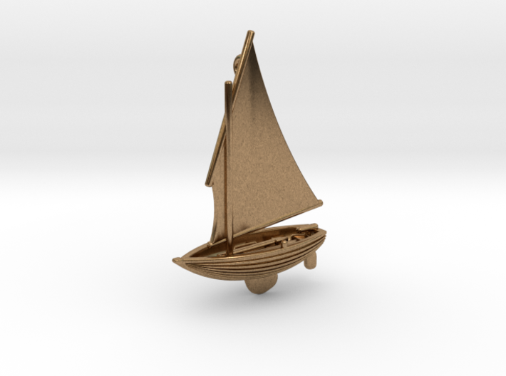 Small Old Sailing Boat Pendant 2 3d printed