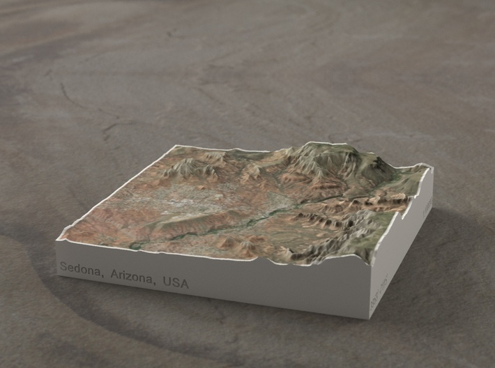 Sedona, Arizona, USA, 1:100000 Explorer 3d printed
