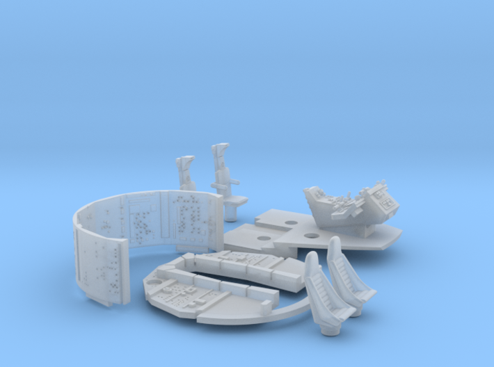 YT1300 FM 1/72 COCKPIT AND WALLS SET 3d printed