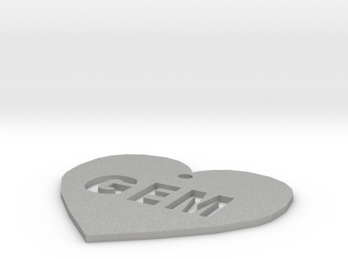 """Heart Name Tag Extra Large (3"""") 3d printed"""