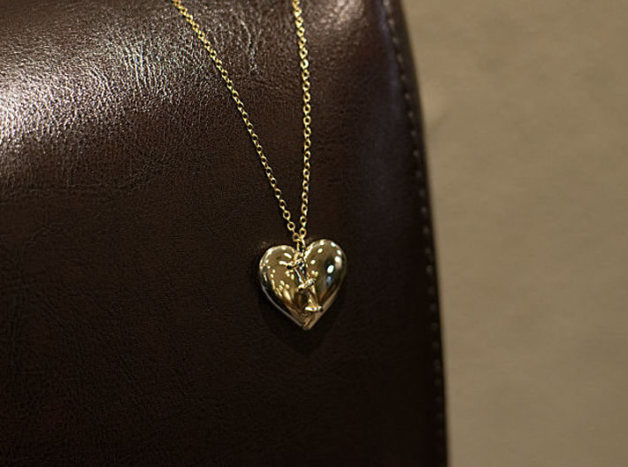 Patched Heart 3d printed