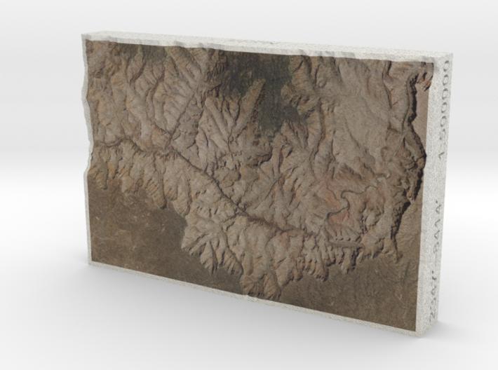 Grand Canyon, Arizona, USA, 1:500000 3d printed