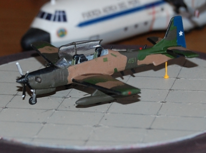 003C Super Tucano 1/144 FD/FUD 3d printed Super Tucano in Chilean markings. Model and photos from Michel Anciaux