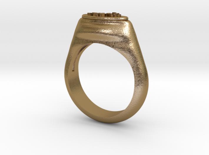 Flower Stamp Ring 3d printed