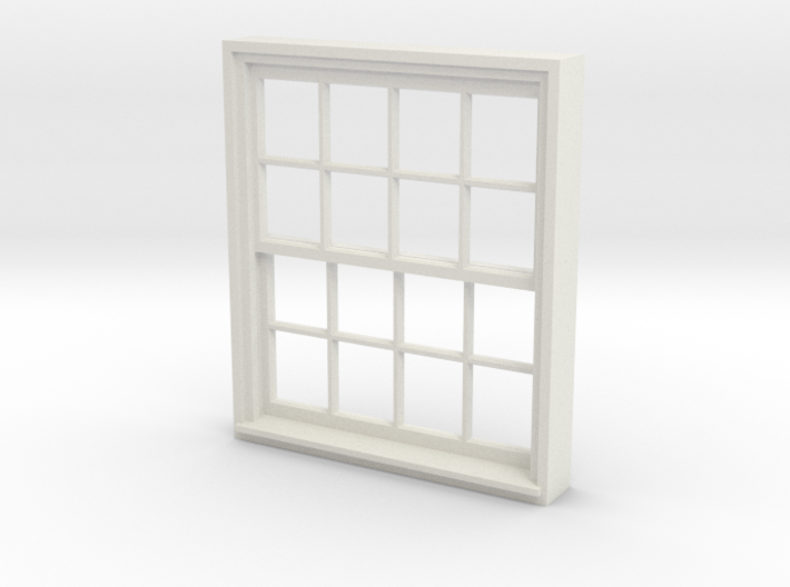 Window, 52in X 60in, 16 Panes, 1/32 Scale 3d printed