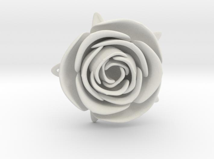 White Rose 3d printed