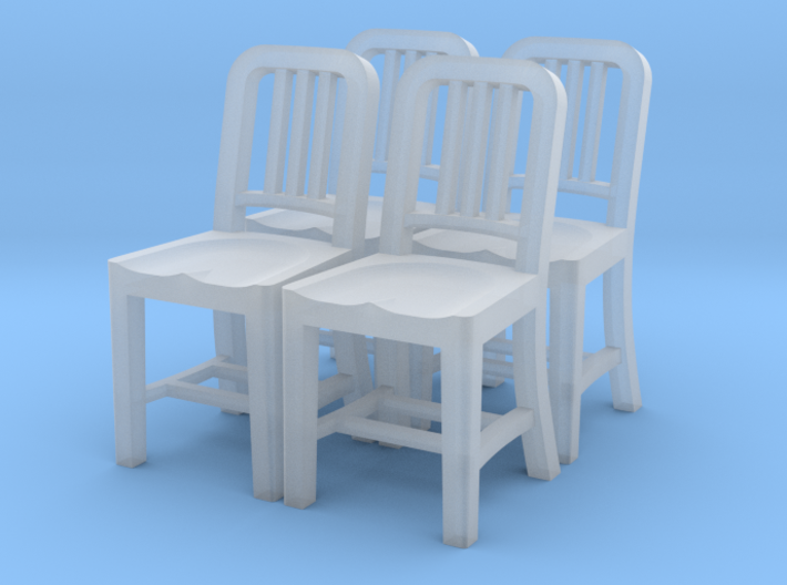1:48 Metal Chair (Set of 4) 3d printed