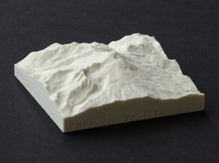 3'' Mt. Baker, Washington, USA, Sandstone 3d printed