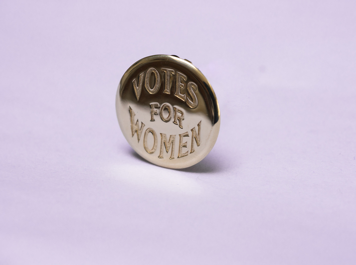 Engraved Votes For Women Clip Button 3d printed