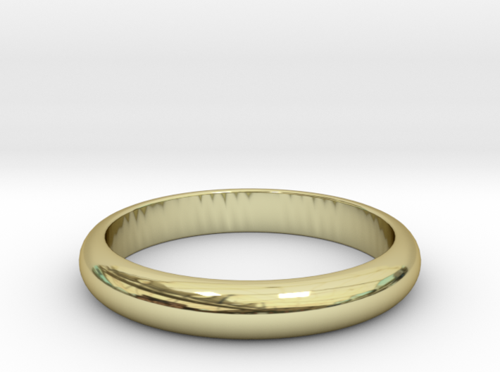 Wedding Band (classic ring) 3d printed