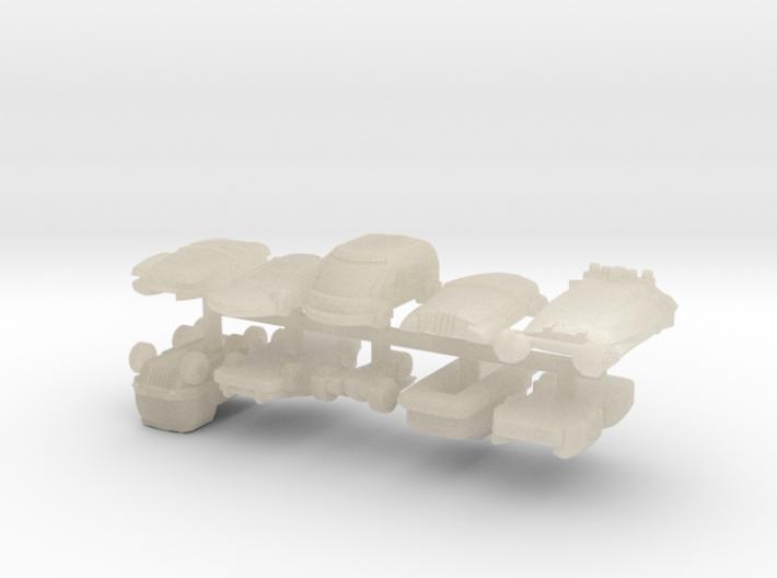 6mm Futuristic Civilian Cars (10pcs) 3d printed