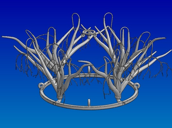 "Base Ring 3d printed ""Winter Trees: Assembled Set"
