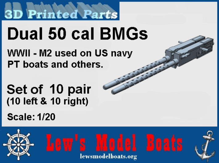 PT Boat dual 50 cal BMG - 1/20 scale 3d printed