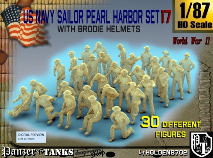 1-87 US Navy Pearl Harbor Set 17 3d printed