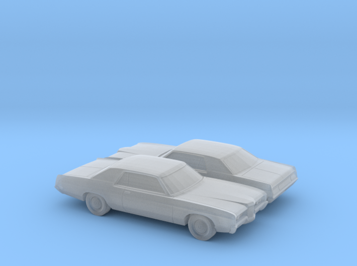 1/160 2X 1971/72 Ford LTD Coupe 3d printed